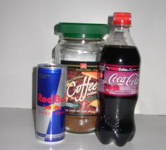 kawa red bul coca cola