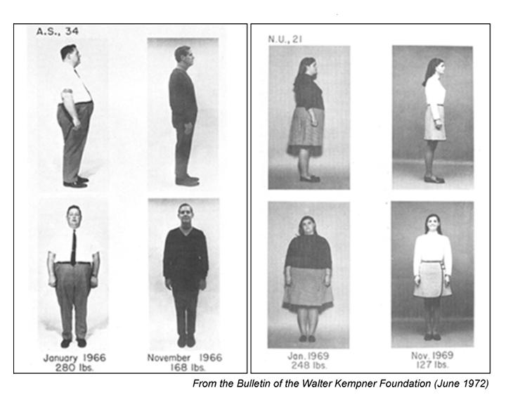 efekty diety ryżowej Kempnera