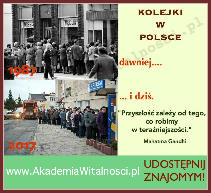 kolejki w Polsce dawniej i dzis